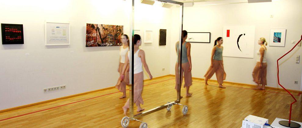 Tanzvorführung der leere Bilderrahmen